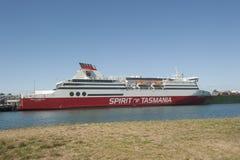 Devonport澳大利亚:塔斯马尼亚岛的轮渡精神 免版税图库摄影