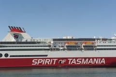 Devonport Australia: Ferry Spirit of Tasmania Stock Image