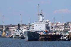 Devonport Dockyard, Plymouth uk. Stock Image