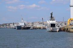Devonport Dockyard, Plymouth uk. Royalty Free Stock Photos