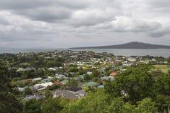 Devonport and Rangitoto Island, Auckland, New Zealand Stock Photo