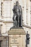 Devonshire公爵的雕象在伦敦 库存图片