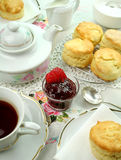 devonshire烤饼茶 免版税库存照片