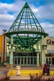 Devonshire购物中心南入口 库存图片