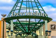 Devonshire购物中心标志 免版税库存图片