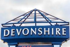 Devonshire购物中心标志 图库摄影