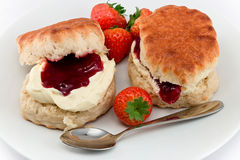 Devonshire Cream Tea Royalty Free Stock Photography