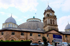 Devonshire Dome, Buxton, Derbyshire. Buxton, Derbyshire, UK. August 23, 2017. The Devonshire Dome designed by Robert Rippon Duke for the Duke of Devonshire in Royalty Free Stock Photo