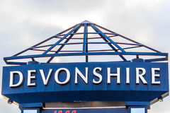 Devonshire Mall Sign Stock Photography