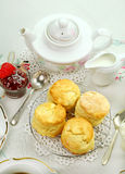 Devonshire Tea And Scones Royalty Free Stock Photography