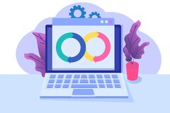Free Devops Concept. Application Development, Building.  API Prototyping, Programming And Testing. Royalty Free Stock Photography - 187060467