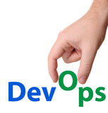 DevOps Development & Operations concept sign Royalty Free Stock Photography