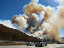 Devore Brush Fire, San Bernardino, California Stock Photos