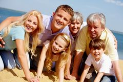 Devoted family Stock Photos