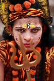 Devotee appear as the God Shiva Royalty Free Stock Photos