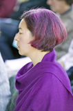 Devotee attends Amitabha Empowerment Buddhist Ceremony at Meditation Mount in Ojai, CA Stock Photography