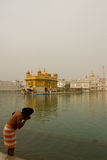 A Devotee of The Golden Temple of Amritsar, Punjab, India Stock Image