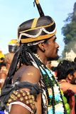 A devotee in the Hindu festival of Thaipusam. Stock Image