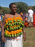 A devotee at a Kavady festival Stock Images