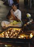 Devotee at Menakshi Temple Madurai royalty free stock image