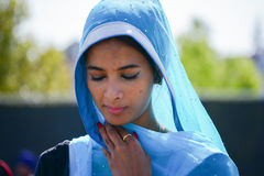 Devotee Sikh praying Royalty Free Stock Image