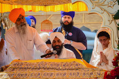 Devotee Sikh recite prayers Royalty Free Stock Images