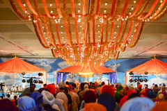 Devotee Sikhs recite prayers Stock Image