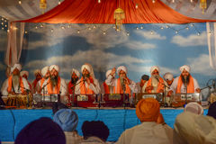 Devotee Sikhs recite prayers Stock Photo