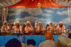 Devotee Sikhs recite prayers Stock Photo