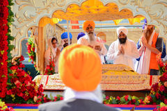Devotee Sikhs recite prayers Royalty Free Stock Photography