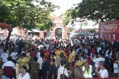 Devotees crowd. KUALA LUMPUR, MALAYSIA, May 17, 2011 : Crowded of devotees during celebrating Wesak day at Kuala Lumpur, Malaysia Stock Images