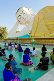 The Devotees of The Golden Pagoda of Bagan, Myanmar Royalty Free Stock Photo