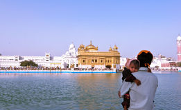 Devotees at Golden temple stock images