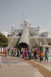 Devotees at a Historic Shrine in Punjab, India Stock Image