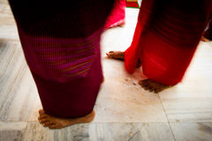 Devotees of Mahabodhi Temple, Bodh Gaya, India Stock Photography