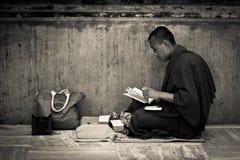 A Devotees of Mahabodhi Temple, Bodh Gaya, India Stock Images