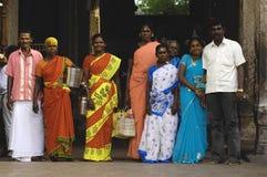 Devotees at Menakshi Temple Madurai Royalty Free Stock Image