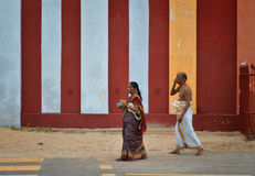 Devotees at Nallur. Hindu devotees at Nallur Kovil. Jaffna, Sri Lanka royalty free stock photography