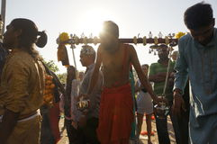 Devotees preparation Royalty Free Stock Images