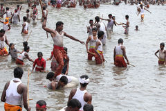 Devotees take part in the 'Ochira Kali' Stock Photos