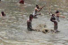 Devotees take part in the 'Ochira Kali' Royalty Free Stock Image