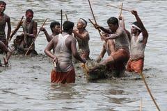 Devotees take part in the 'Ochira Kali' Stock Photography
