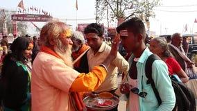 Devotees visiting Kumbh Mela festival in Pryagraj.