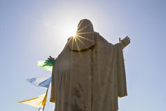 Devotion. Madonna statue in a small village in Italy Royalty Free Stock Photography