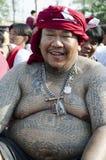 Devoto di giorno di Wai Khru Fotografie Stock Libere da Diritti