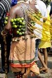 Devoto Hindu na celebração de Thaipusam Foto de Stock