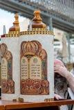 Devoto judío en la pared occidental Fotografía de archivo