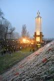 Devotos conmemorativos a Holodomor en Ucrania, Imagen de archivo libre de regalías