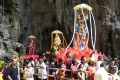 Devotos hindúes en la celebración de Thaipusam Foto de archivo