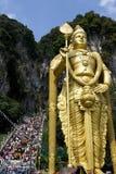 Devotos hindúes en la celebración de Thaipusam Foto de archivo libre de regalías